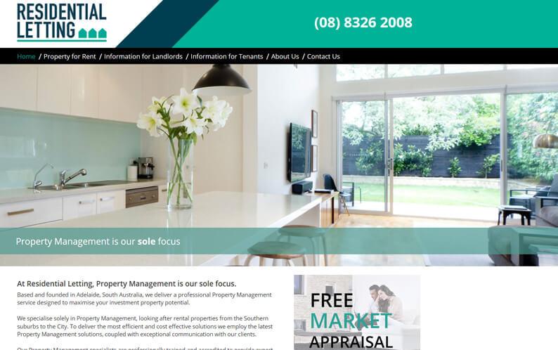 Residential Letting website